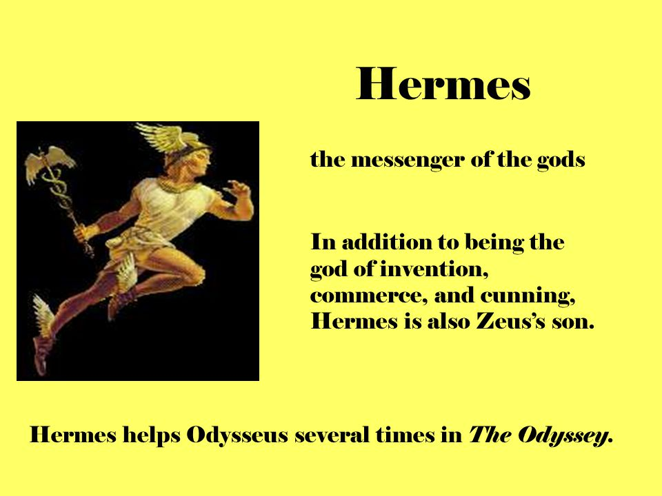 Hermes the messenger of the gods
