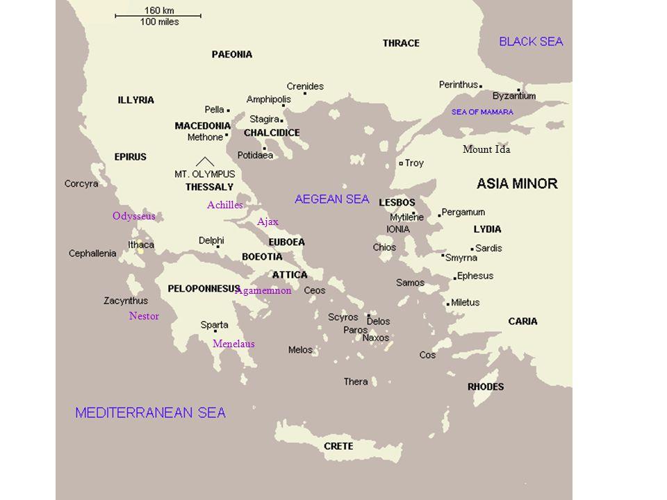 Mount Ida Achilles Odysseus Ajax Agamemnon Nestor Menelaus