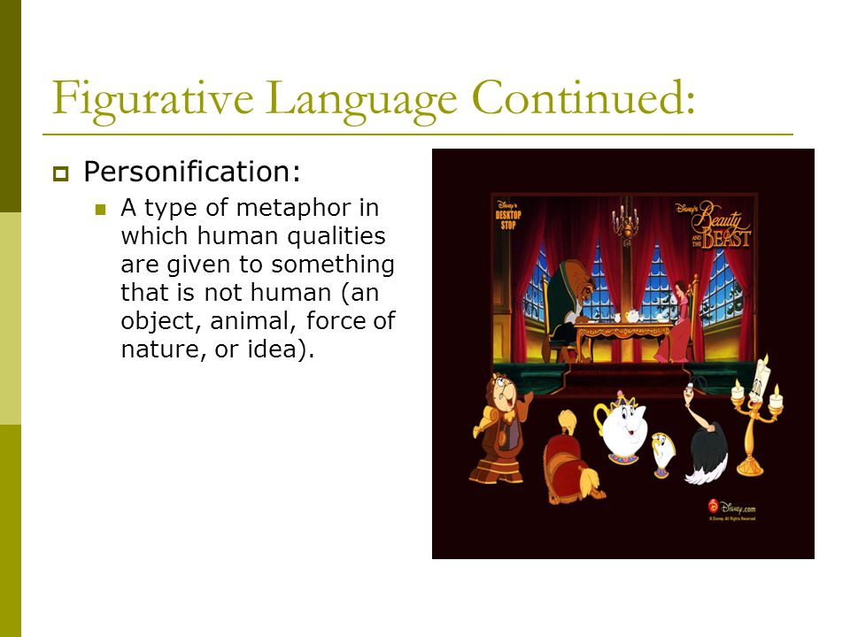 Figurative Language Continued: