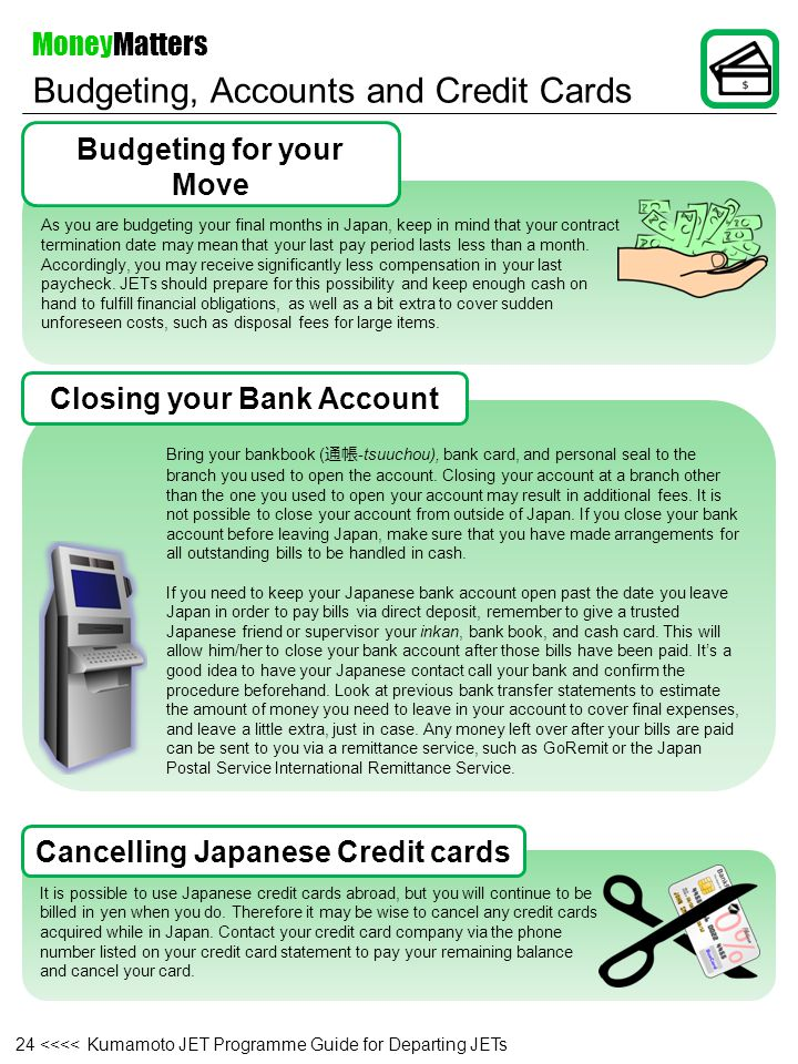 Budgeting, Accounts and Credit Cards