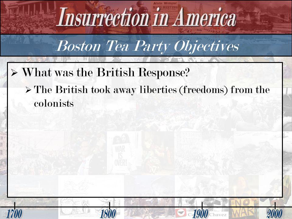 Boston Tea Party Objectives