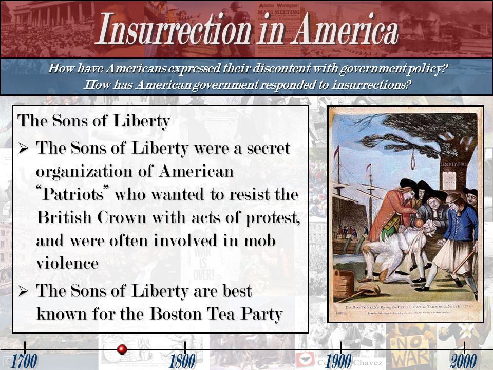 The Sons of Liberty are best known for the Boston Tea Party