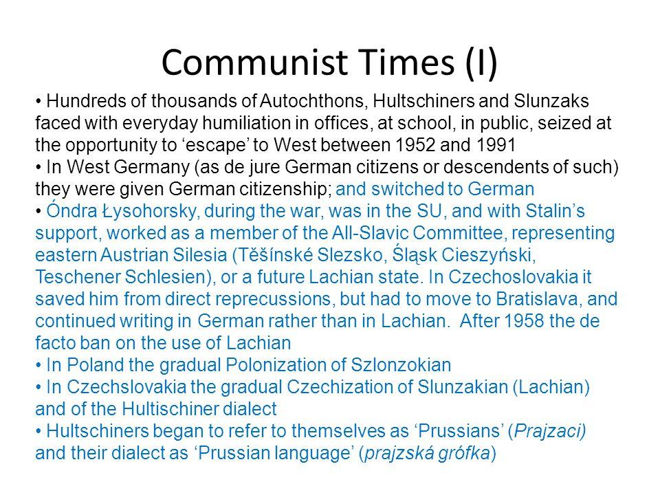 Communist Times (I)