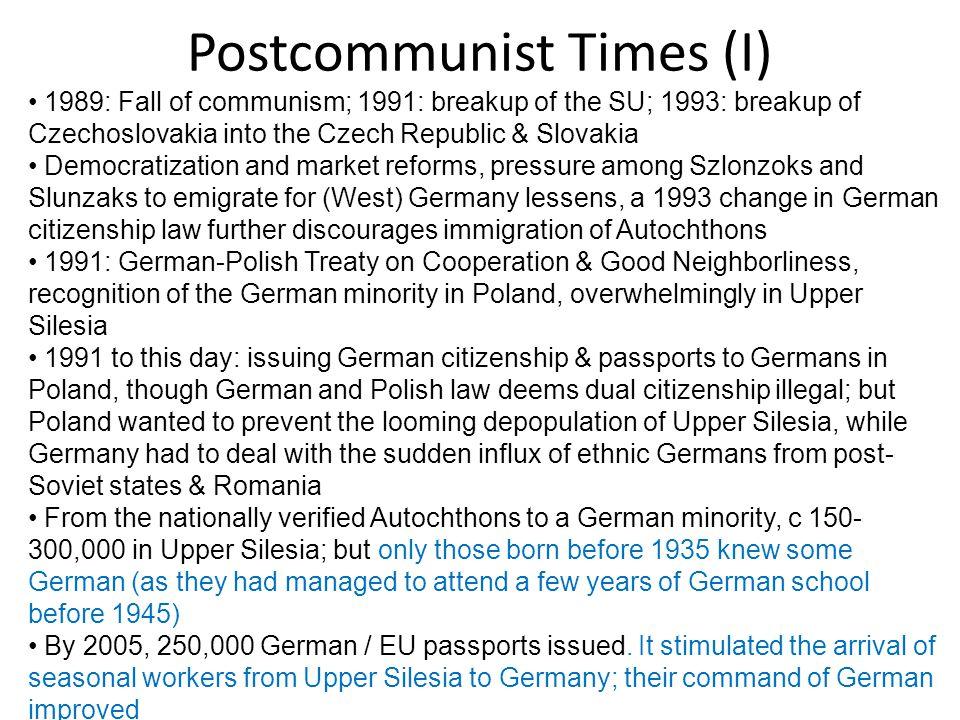 Postcommunist Times (I)