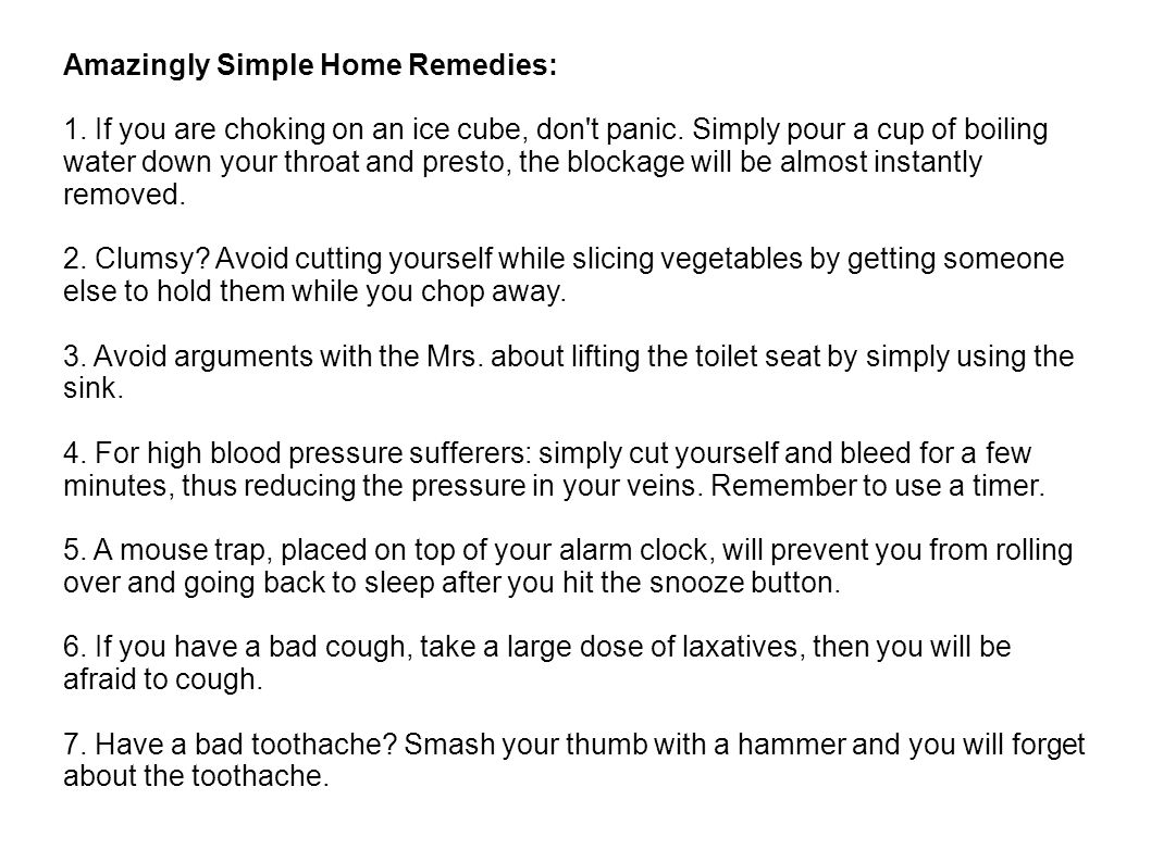 Amazingly Simple Home Remedies: