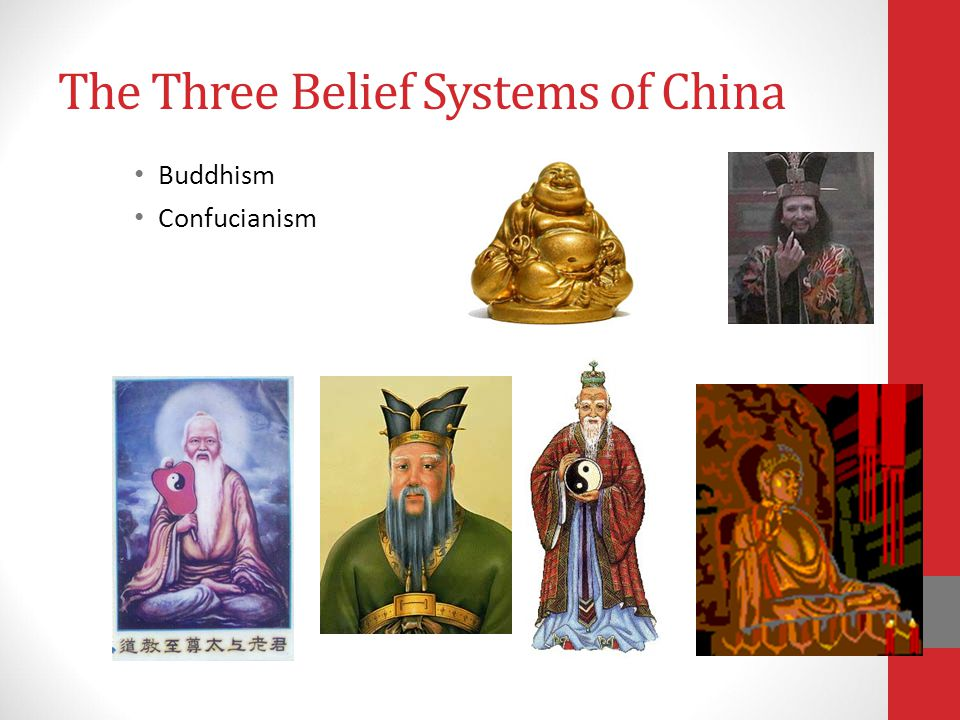 The Three Belief Systems of China