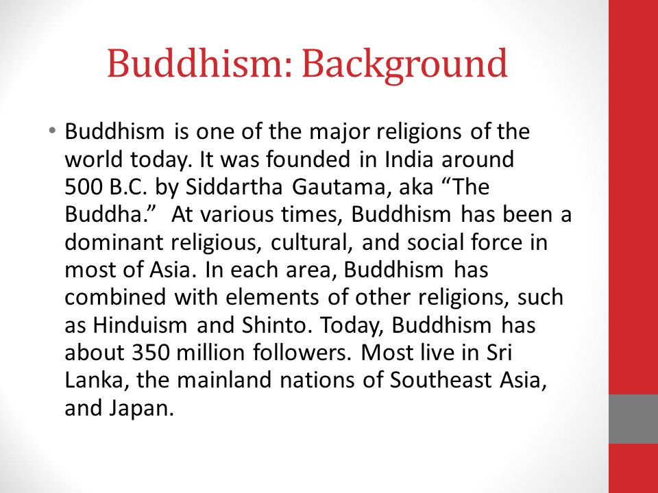 Buddhism: Background