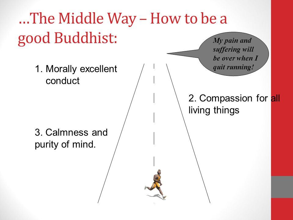 …The Middle Way – How to be a good Buddhist: