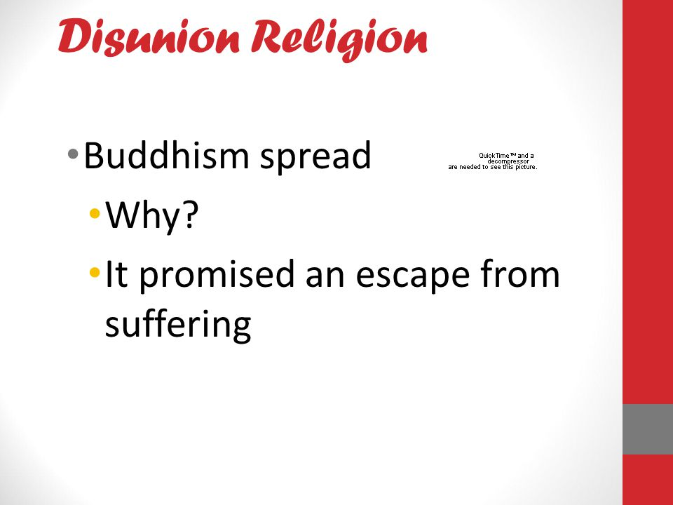 Disunion Religion Buddhism spread Why