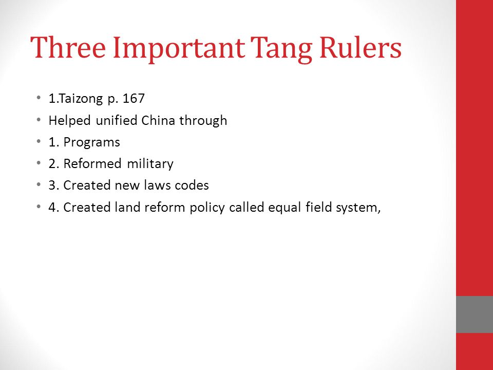 Three Important Tang Rulers