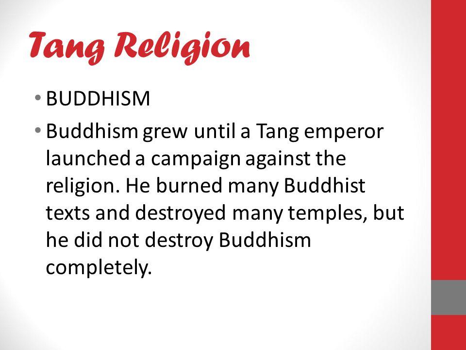 Tang Religion BUDDHISM