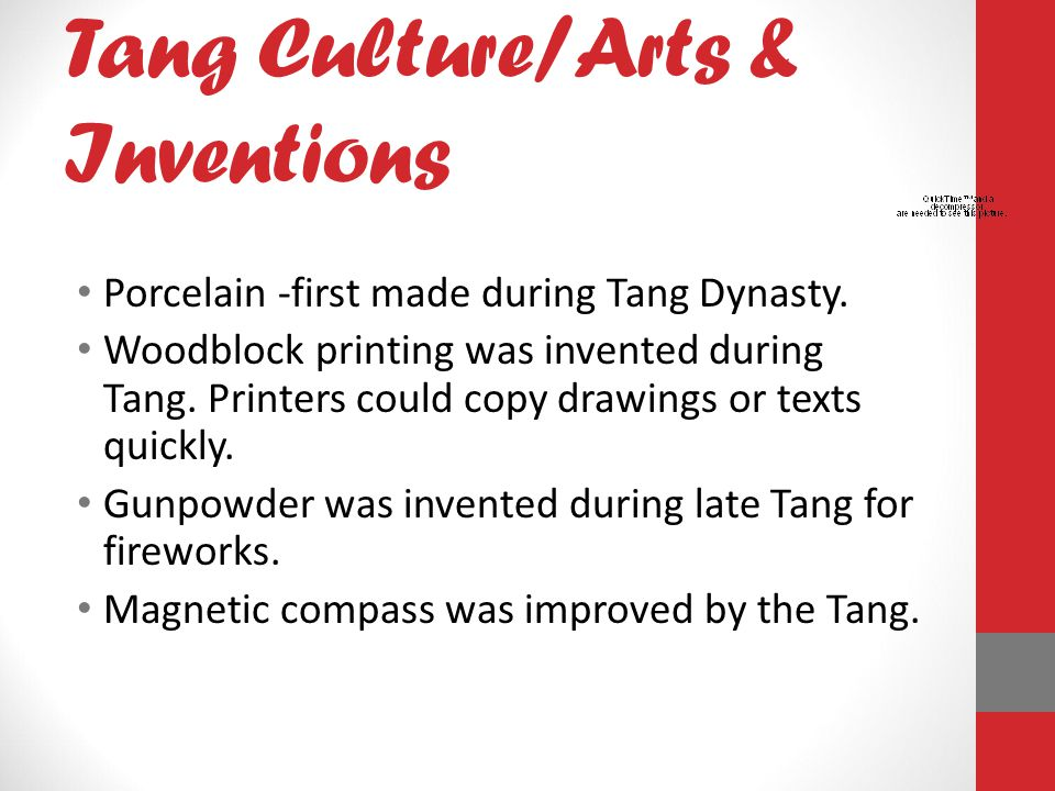 Tang Culture/Arts & Inventions
