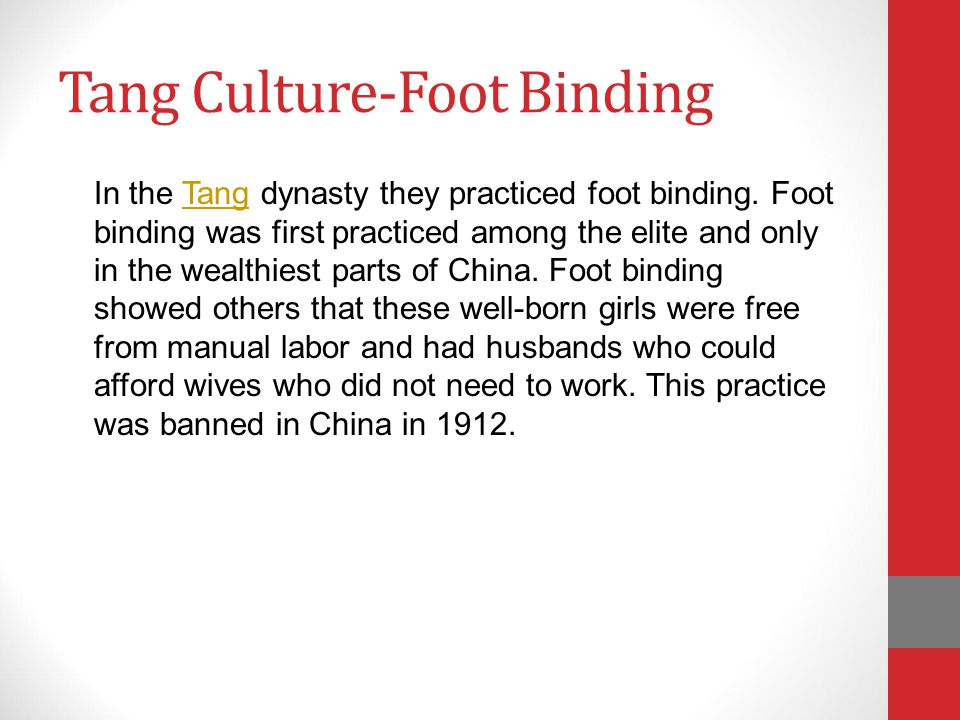 Tang Culture-Foot Binding