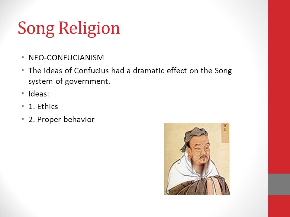 Song Religion NEO-CONFUCIANISM