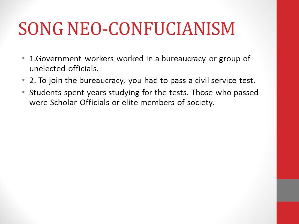 SONG NEO-CONFUCIANISM