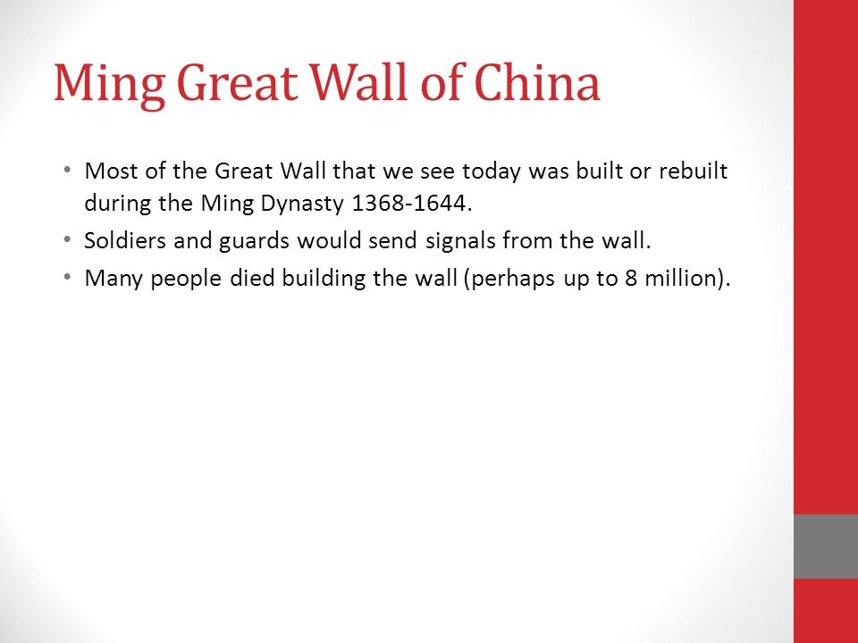 Ming Great Wall of China
