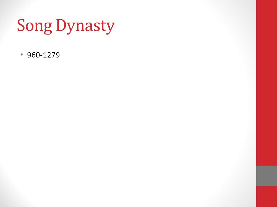 Song Dynasty 960-1279