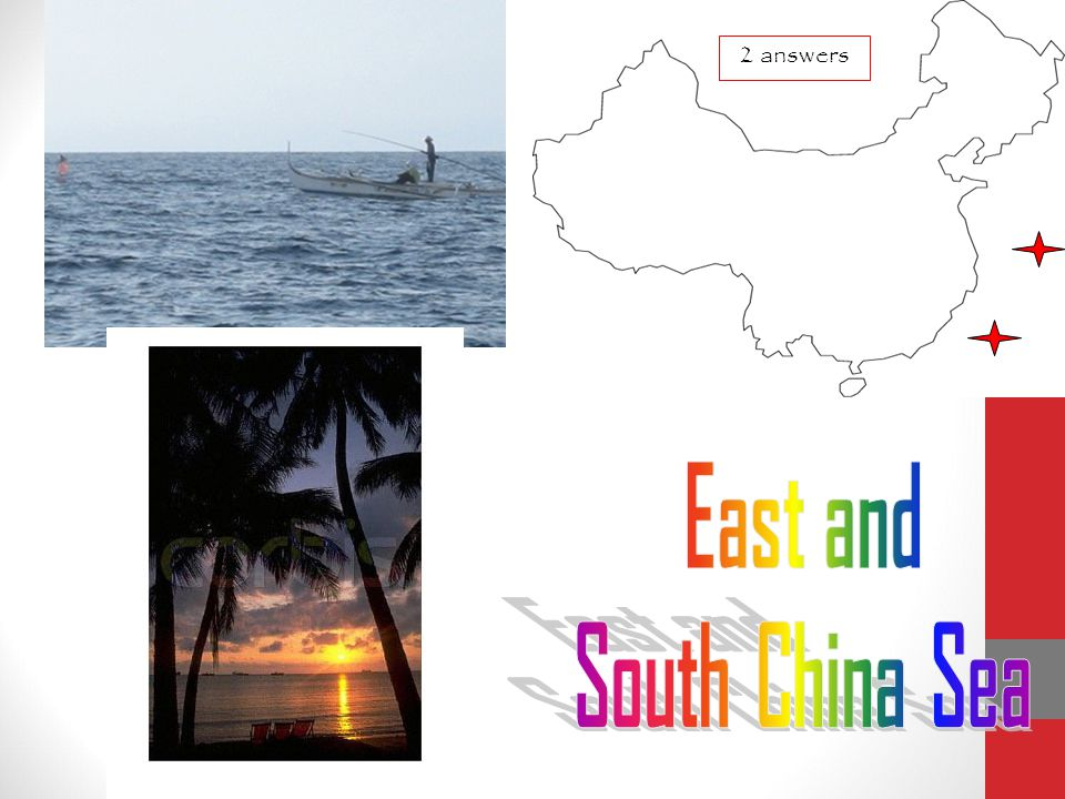 East and South China Sea