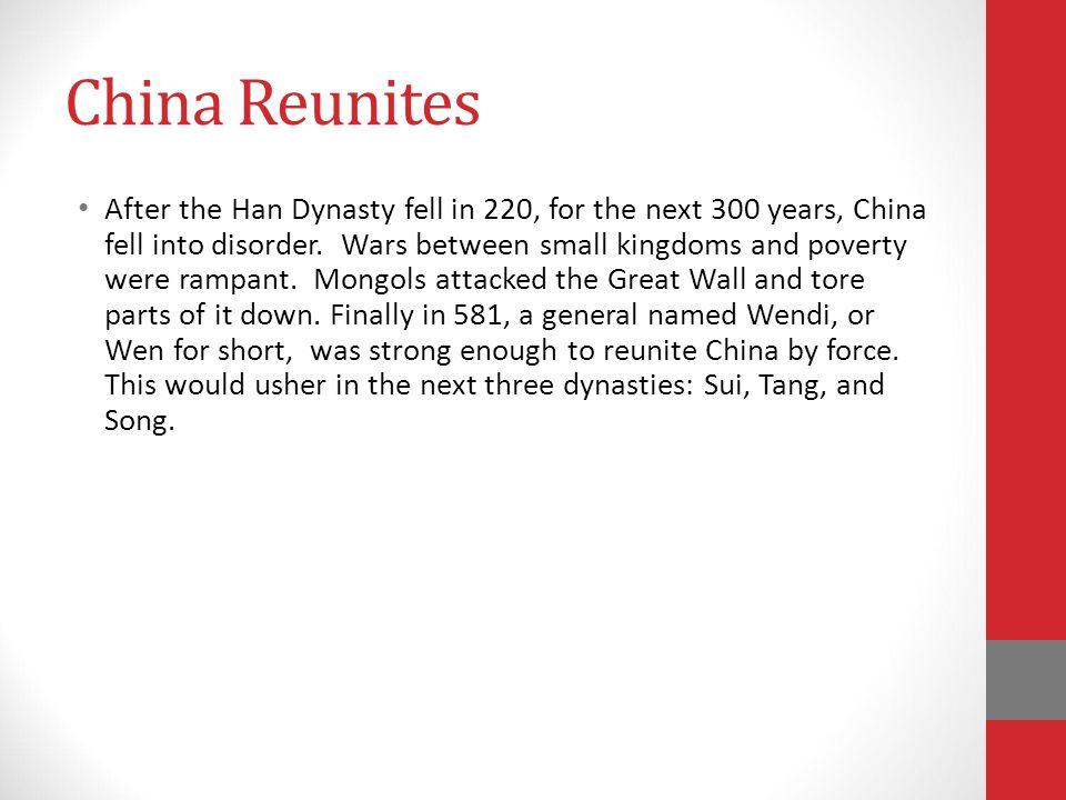 China Reunites