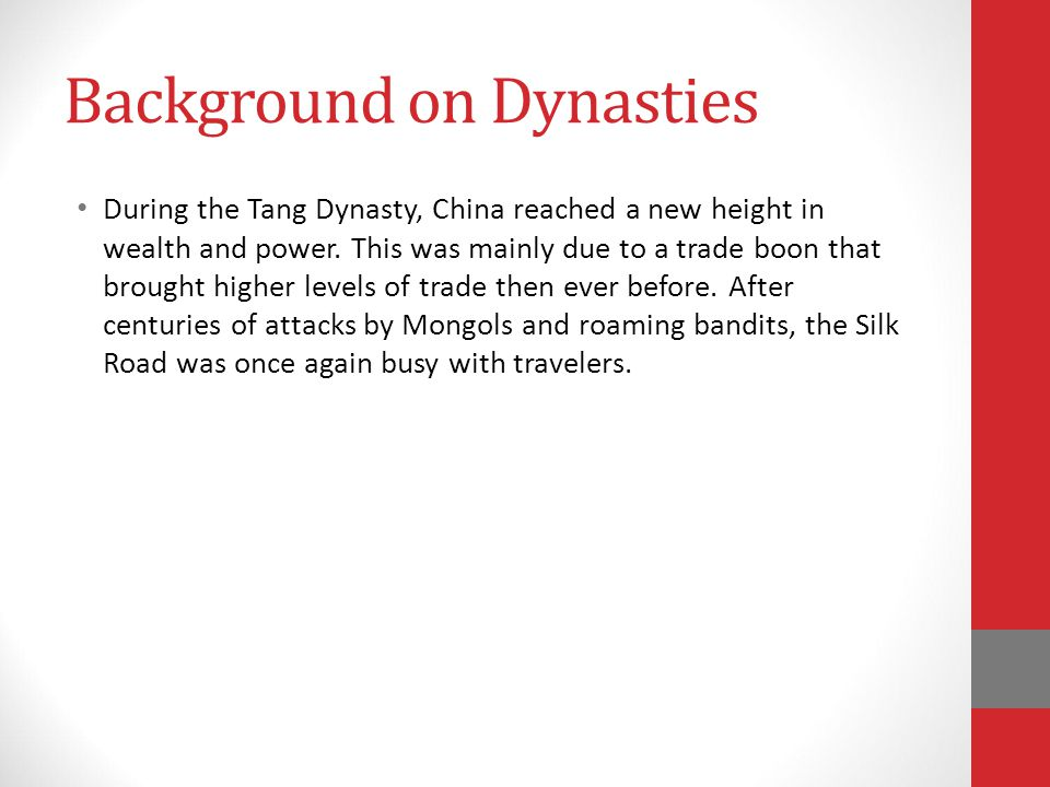 Background on Dynasties