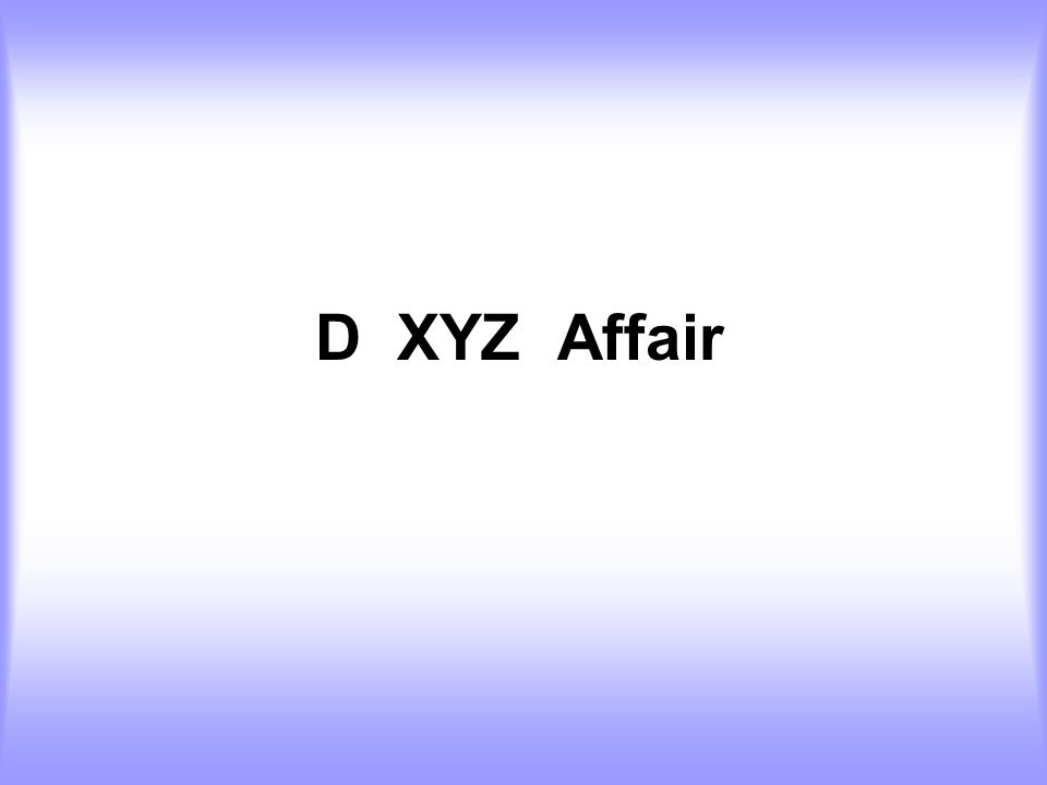 D XYZ Affair