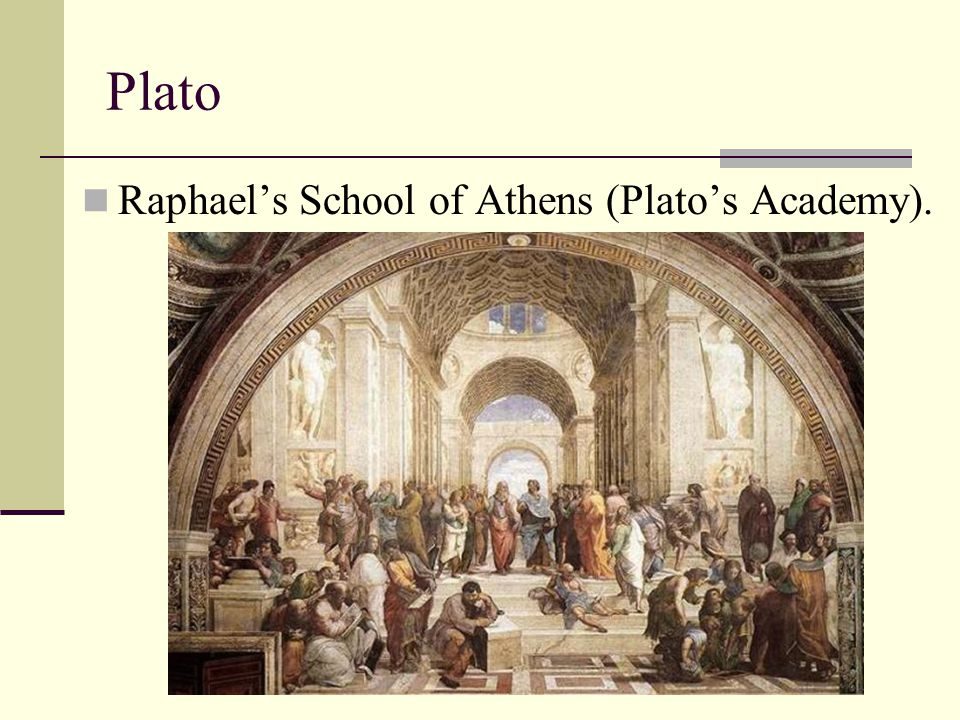 Plato Raphael's School of Athens (Plato's Academy).