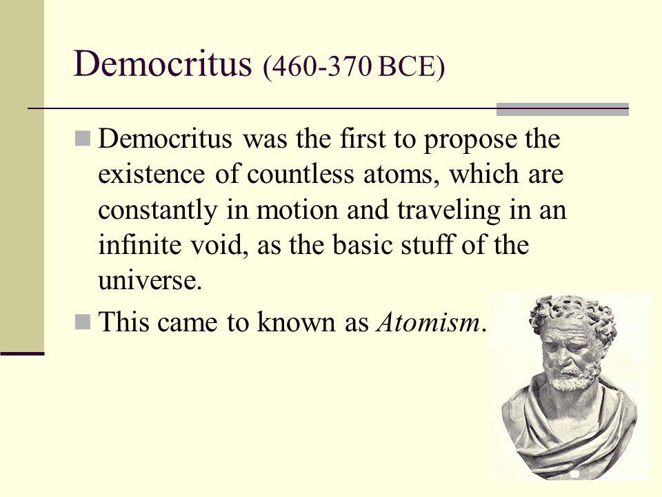 Democritus (460-370 BCE)