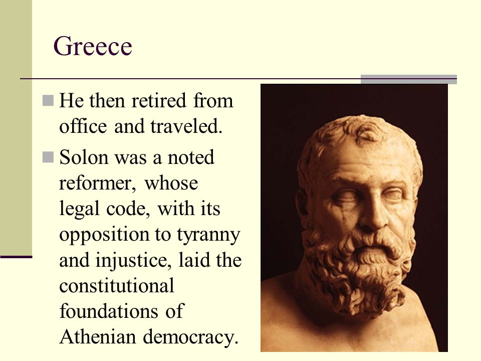 Greece He then retired from office and traveled.