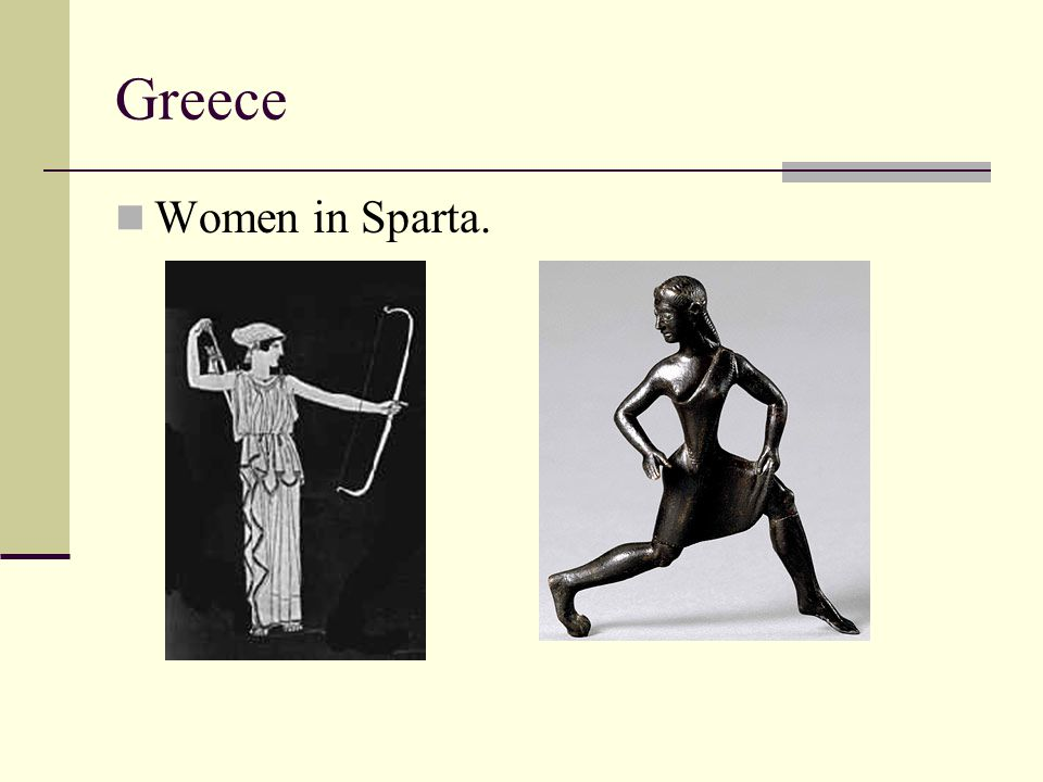 Greece Women in Sparta.