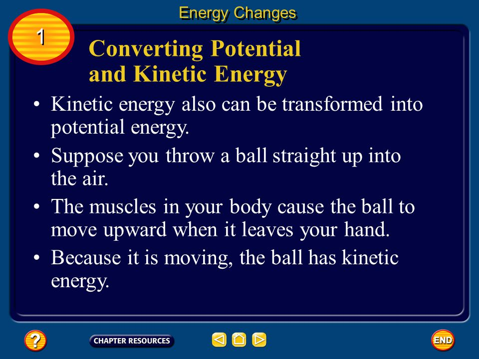 Converting Potential and Kinetic Energy