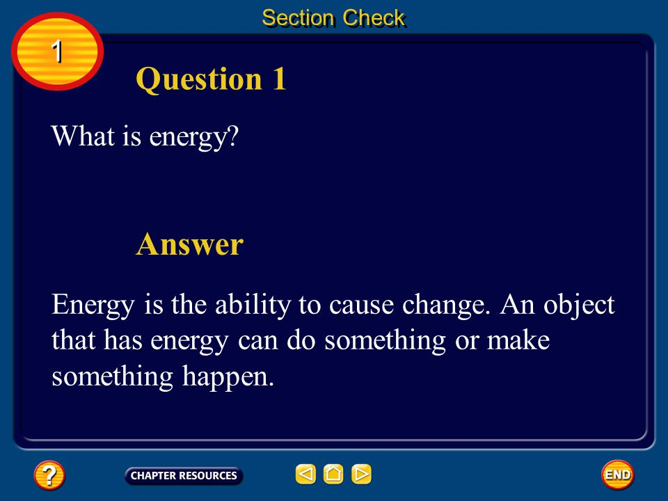 Question 1 Answer 1 What is energy