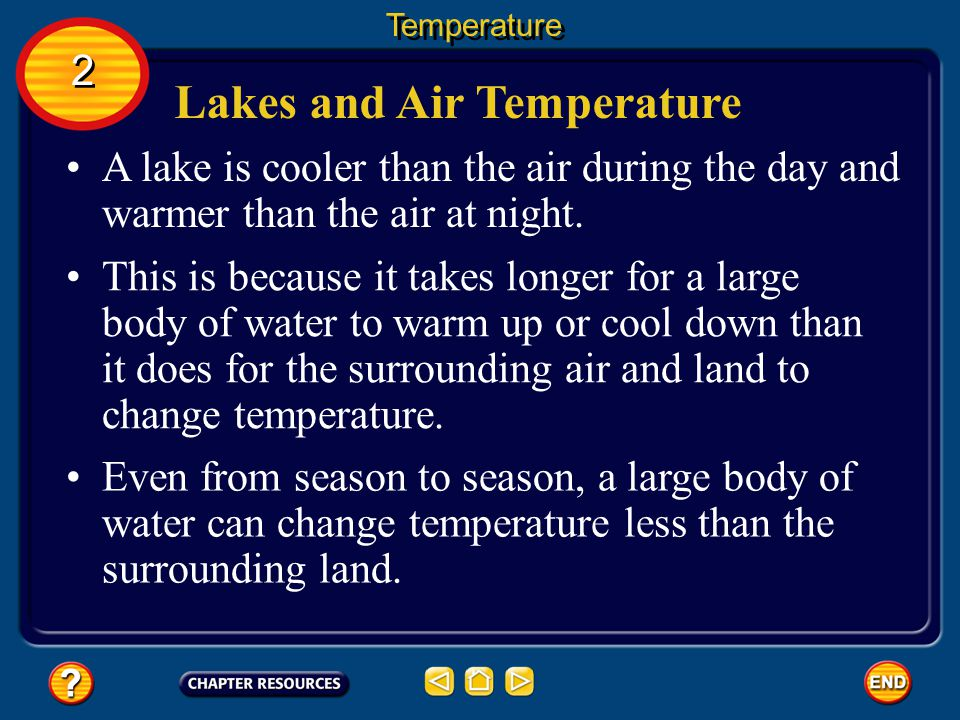 Lakes and Air Temperature