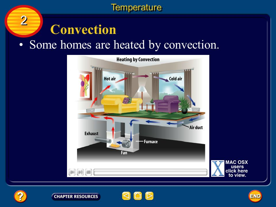 Temperature 2 Convection Some homes are heated by convection.