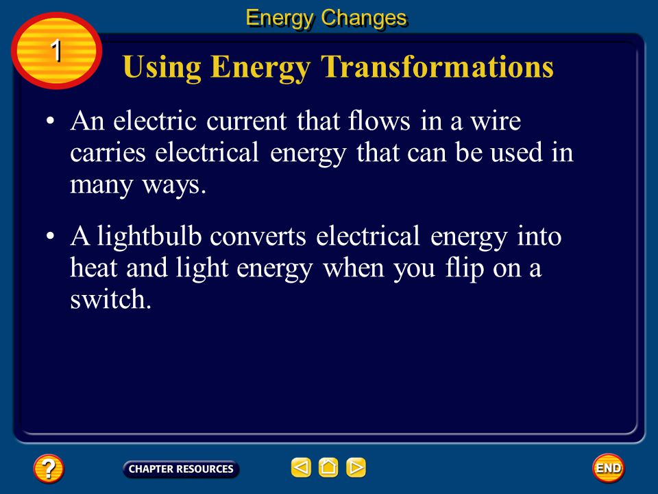 Using Energy Transformations