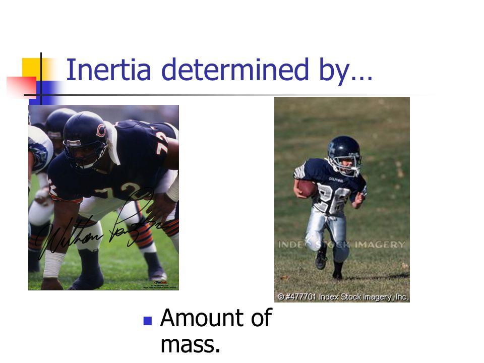 Inertia determined by…