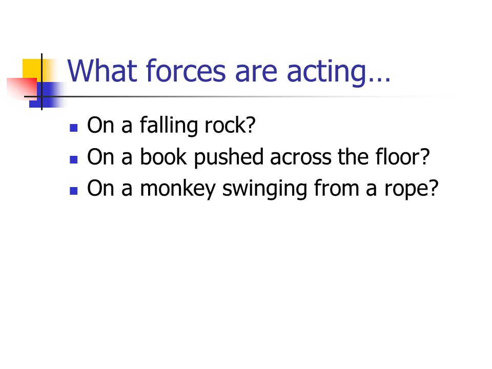 What forces are acting…