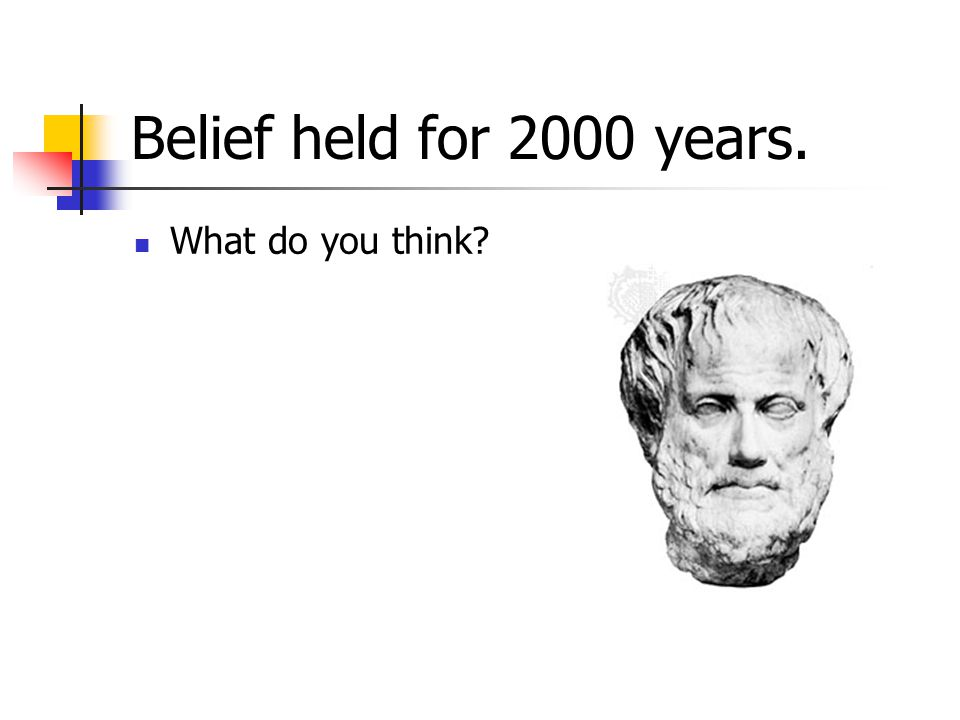 Belief held for 2000 years. What do you think