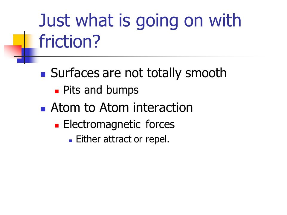 Just what is going on with friction
