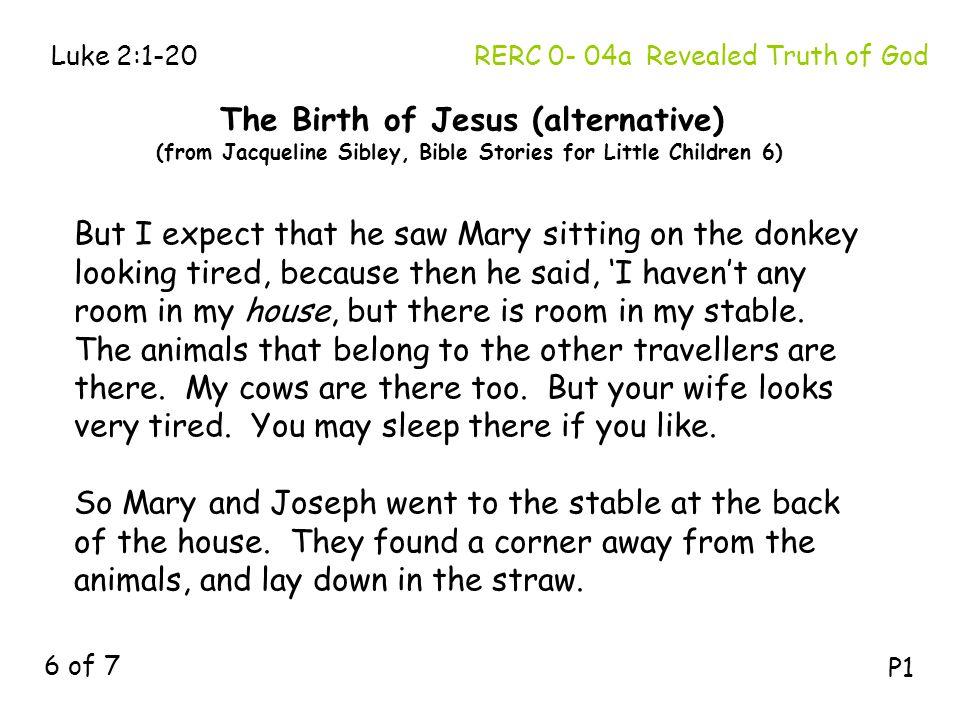The Birth of Jesus (alternative)
