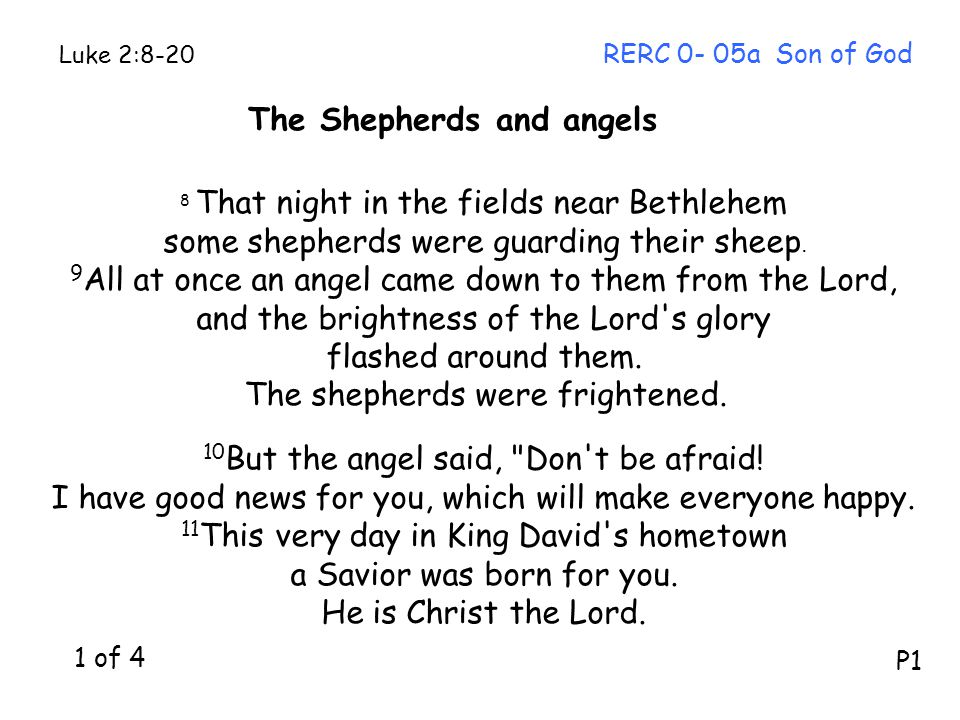 The Shepherds and angels