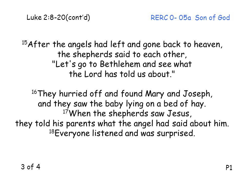 15After the angels had left and gone back to heaven,