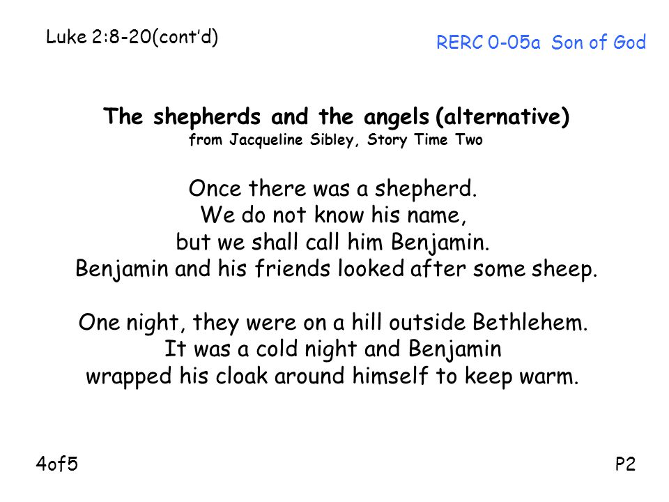The shepherds and the angels (alternative)