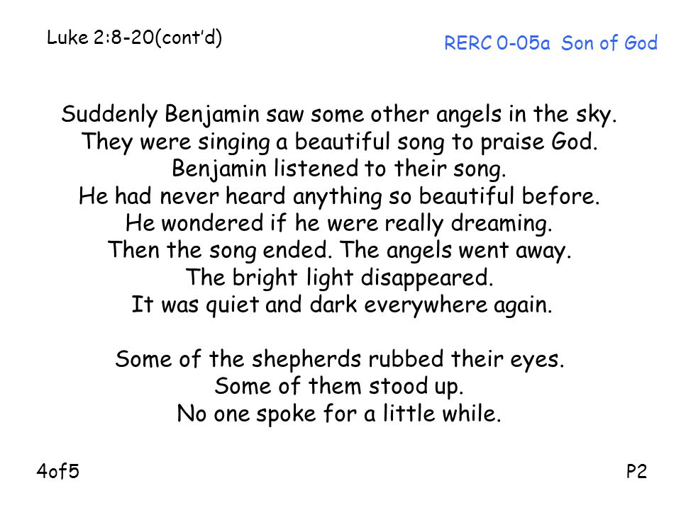Suddenly Benjamin saw some other angels in the sky.