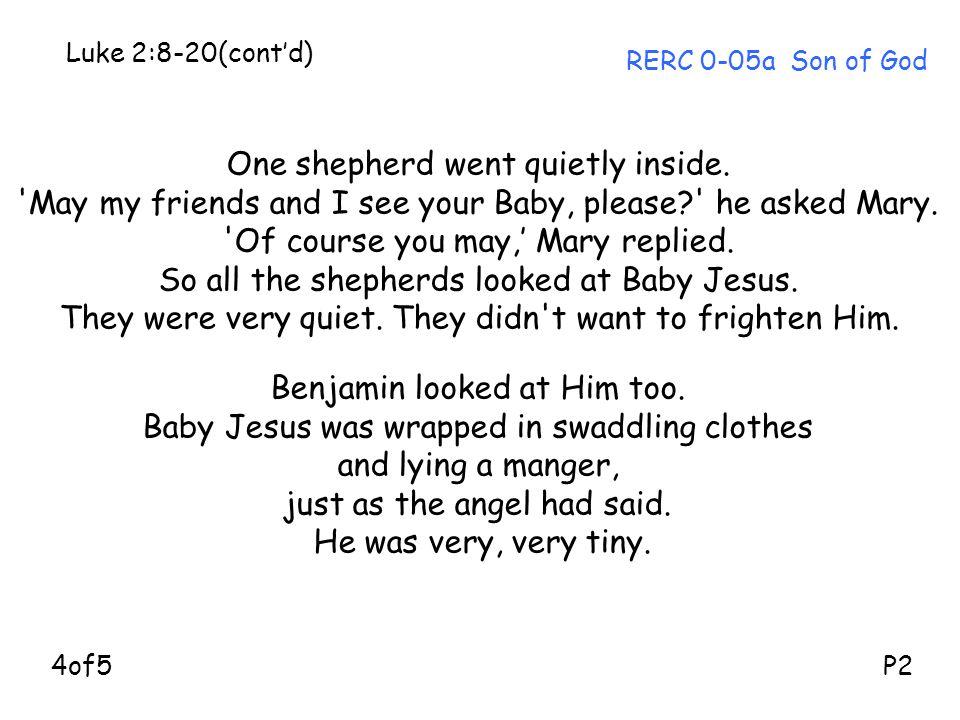One shepherd went quietly inside.