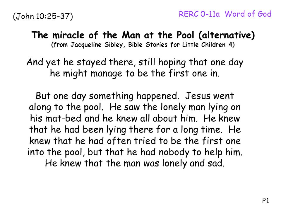 The miracle of the Man at the Pool (alternative)