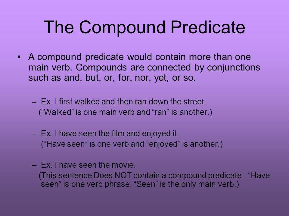 The Compound Predicate