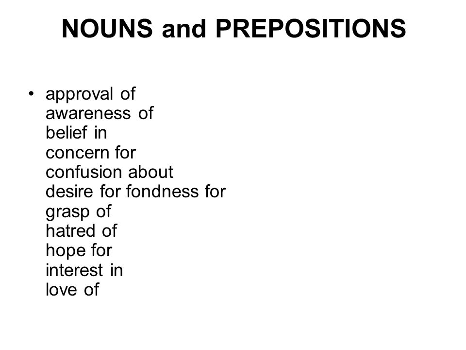 NOUNS and PREPOSITIONS