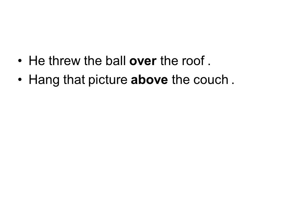 He threw the ball over the roof.