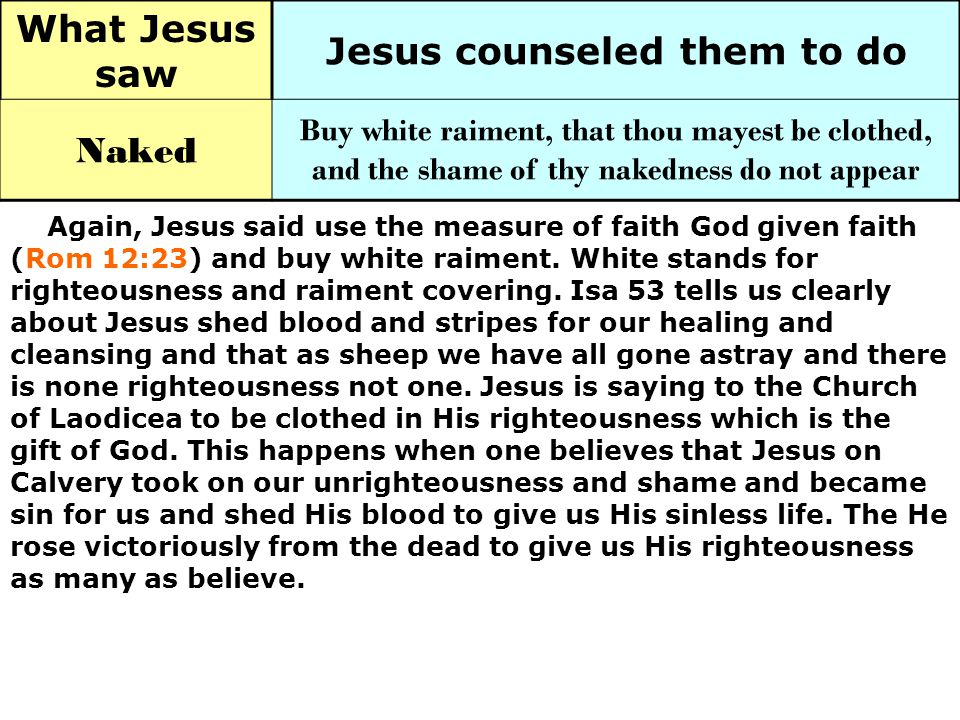Jesus counseled them to do