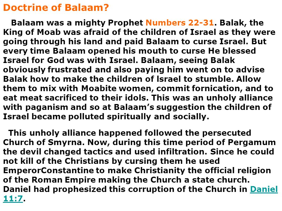 Doctrine of Balaam